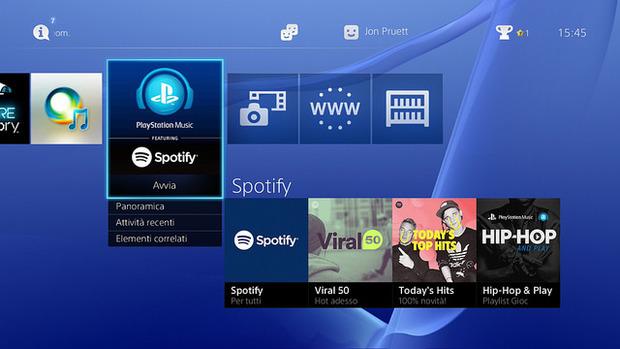 Spotify debutta oggi sulle console Sony con PlayStation Music