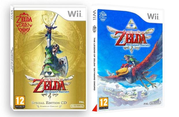 The Legend of Zelda Skyward Sword: le boxart europee