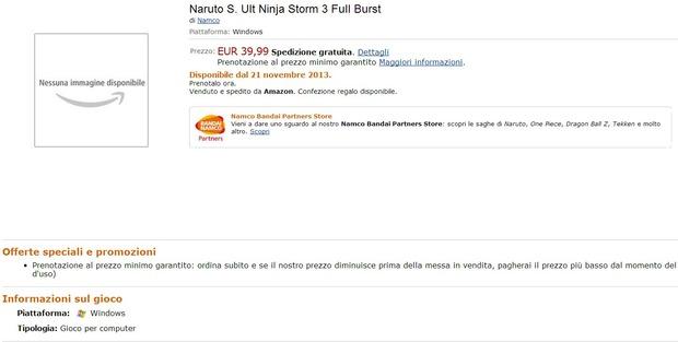 Naruto Shippuden: Ultimate Ninja Storm 3 in arrivo su PC?