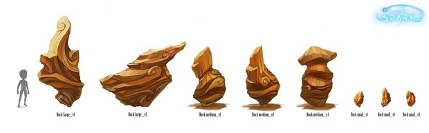 Project Spark: le rocce mostrate in artwork