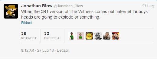 The Witness: Jonathan Blow preannuncia una versione Xbox One