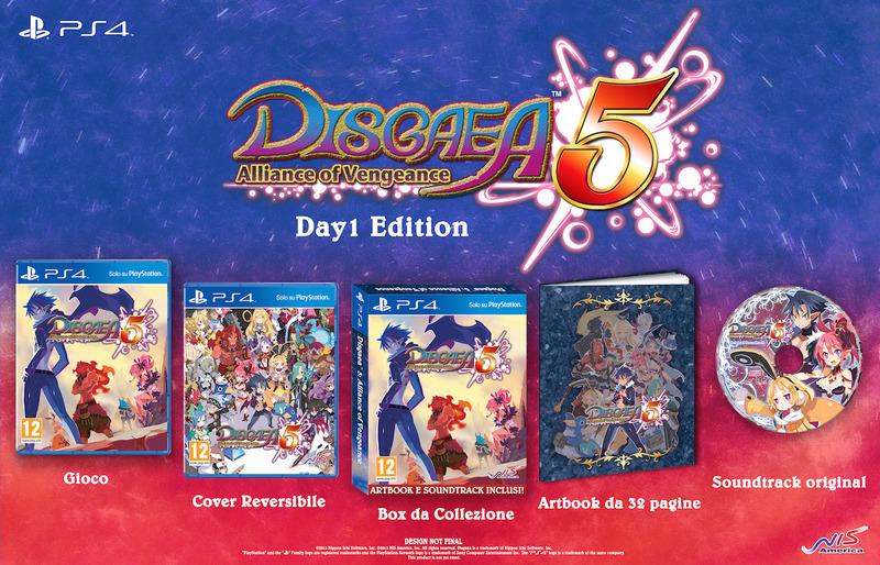 La Launch Day Edition di Disgaea 5 Alliance of Vengeance arriverà anche in Europa