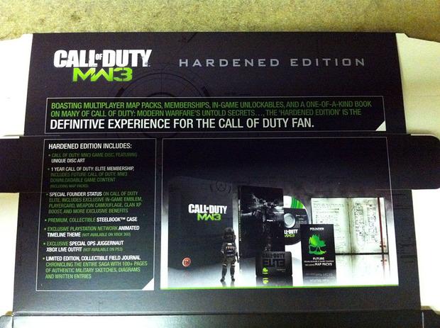 [Report] I contenuti della Hardened Edition di Call of Duty Modern Warfare 3