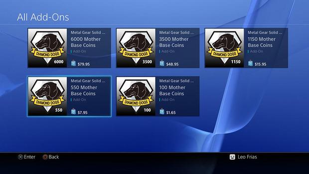 Rivelati i prezzi delle micro-transizioni di Metal Gear Solid 5 The Phantom Pain